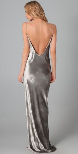 e6b3c34cc51d T by Alexander Wang-The back Clothing Staples, Love Clothing, Long Slip  Dress