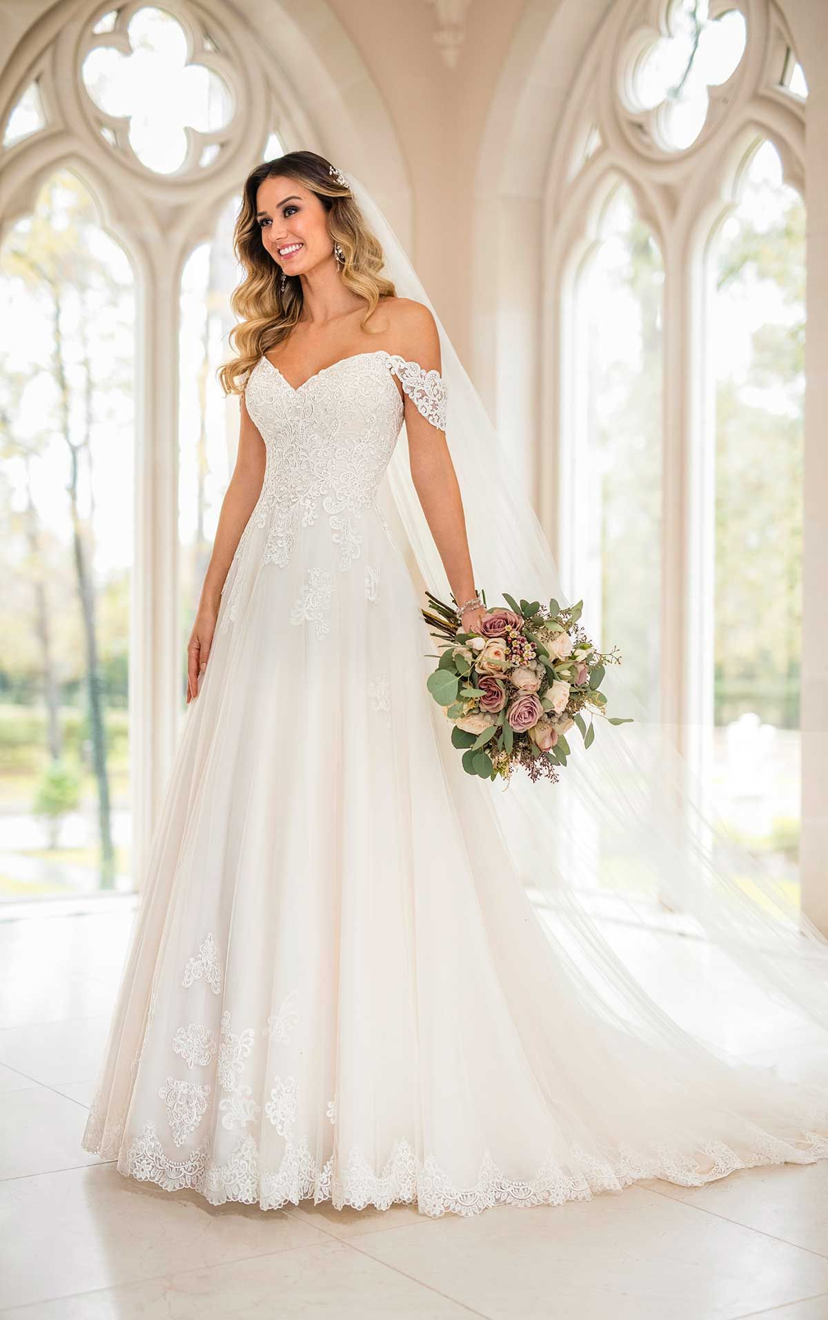 Stella york this lace and tulle over regency organza wedding