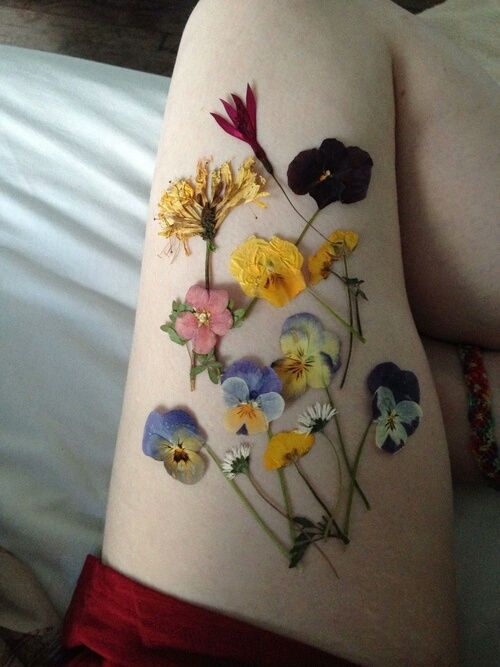 10 Floral Tattoo Artists You Could Trust Your Skin To: Flowers, Pale, And Grunge Image