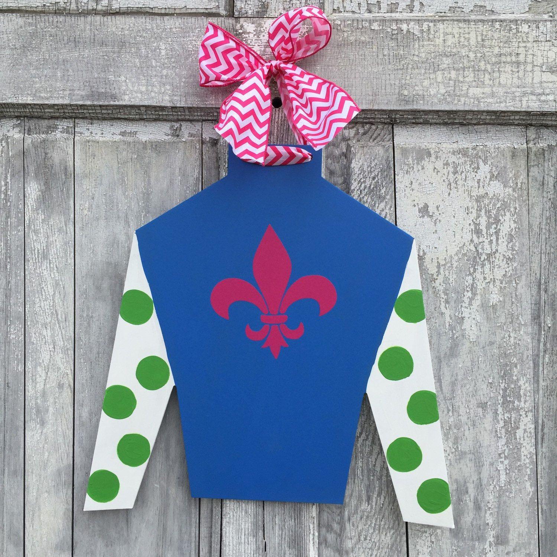 Design Your Own Door Hangers: CUSTOM, Kentucky Derby Jockey Silk, Door Hanger, Design
