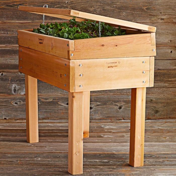 Diy Raised Garden Beds On Legs Part - 46: Cedar Cold Frame On Legs