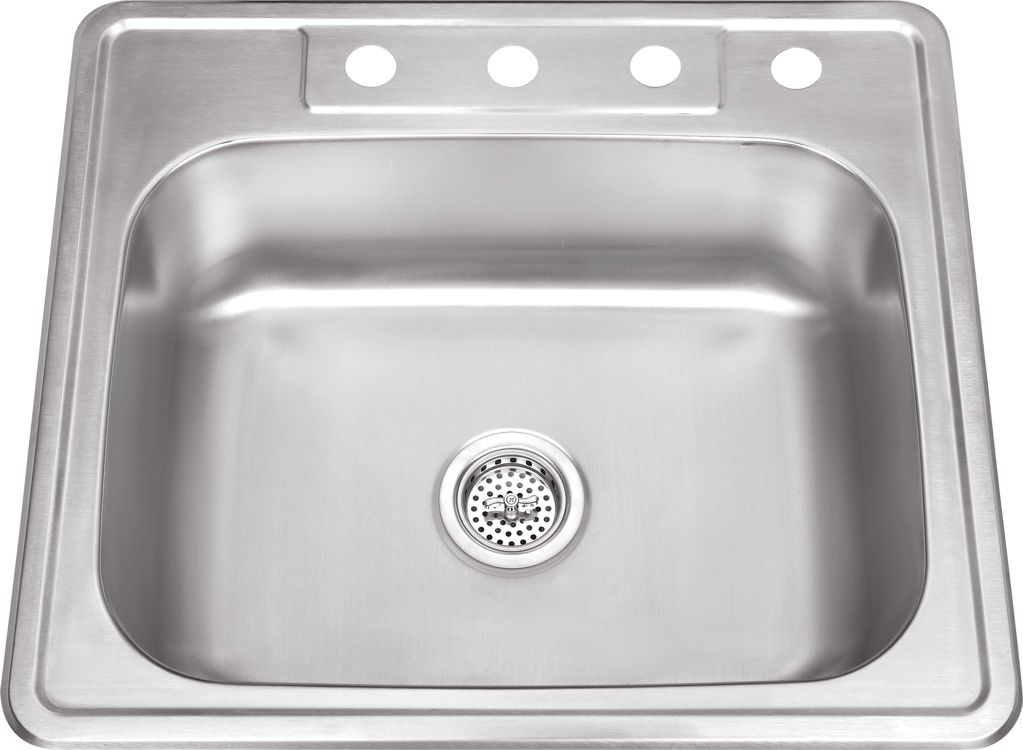 Cahaba Ca113sb25 25 X 22 20 Gauge Stainless Steel Single Bowl Kitchen Sink Stainless Steel Kitchen Sink Kitchen Sink Sink