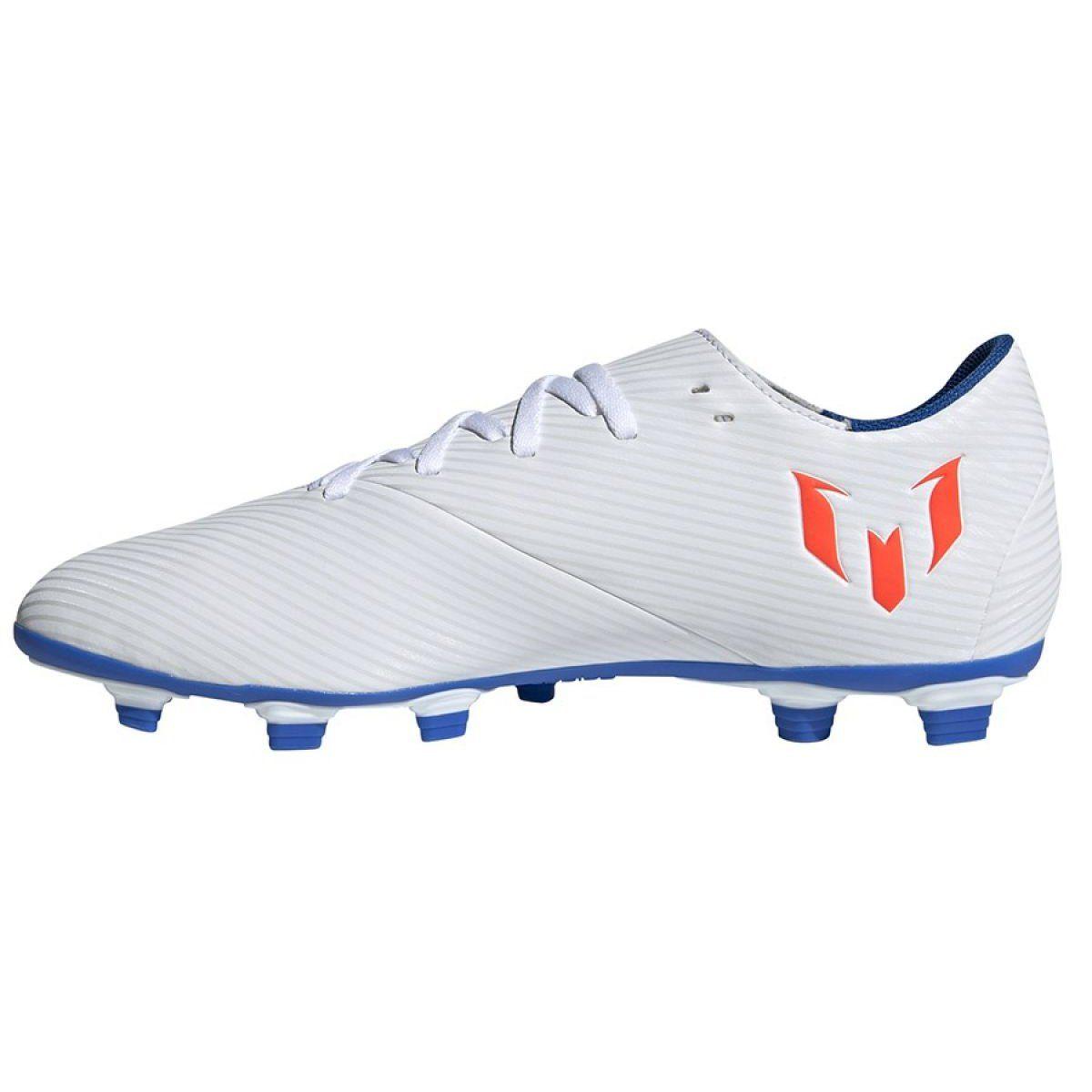 Buty Pilkarskie Adidas Nemeziz Messi 19 4 Fg M F34401 Biale Wielokolorowe Mens Football Boots Football Boots Austin Shoes