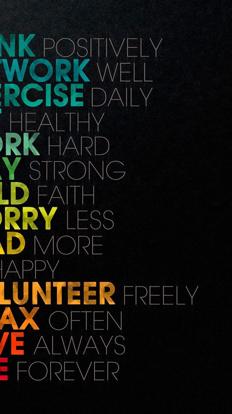 20 HD Typography iPhone Wallpapers Цитаты о вдохновении