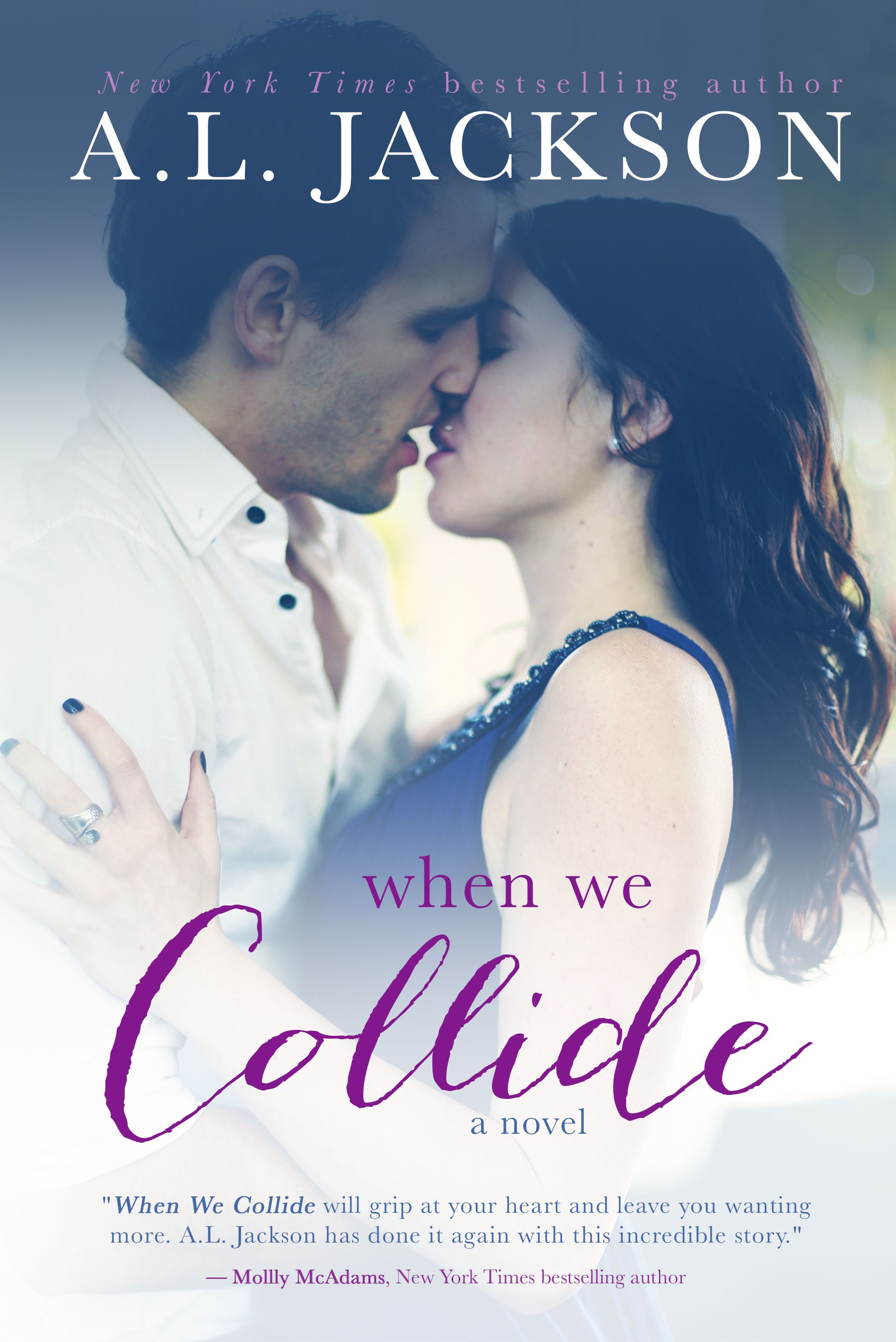 The Gorgeous new When We Collide cover, redesigned by Regina @MaeIDesign