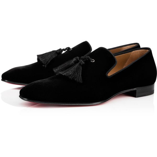 991a20bb309 Officialito Flat Black Velvet - Men Shoes - Christian Louboutin ( 895) ❤  liked on