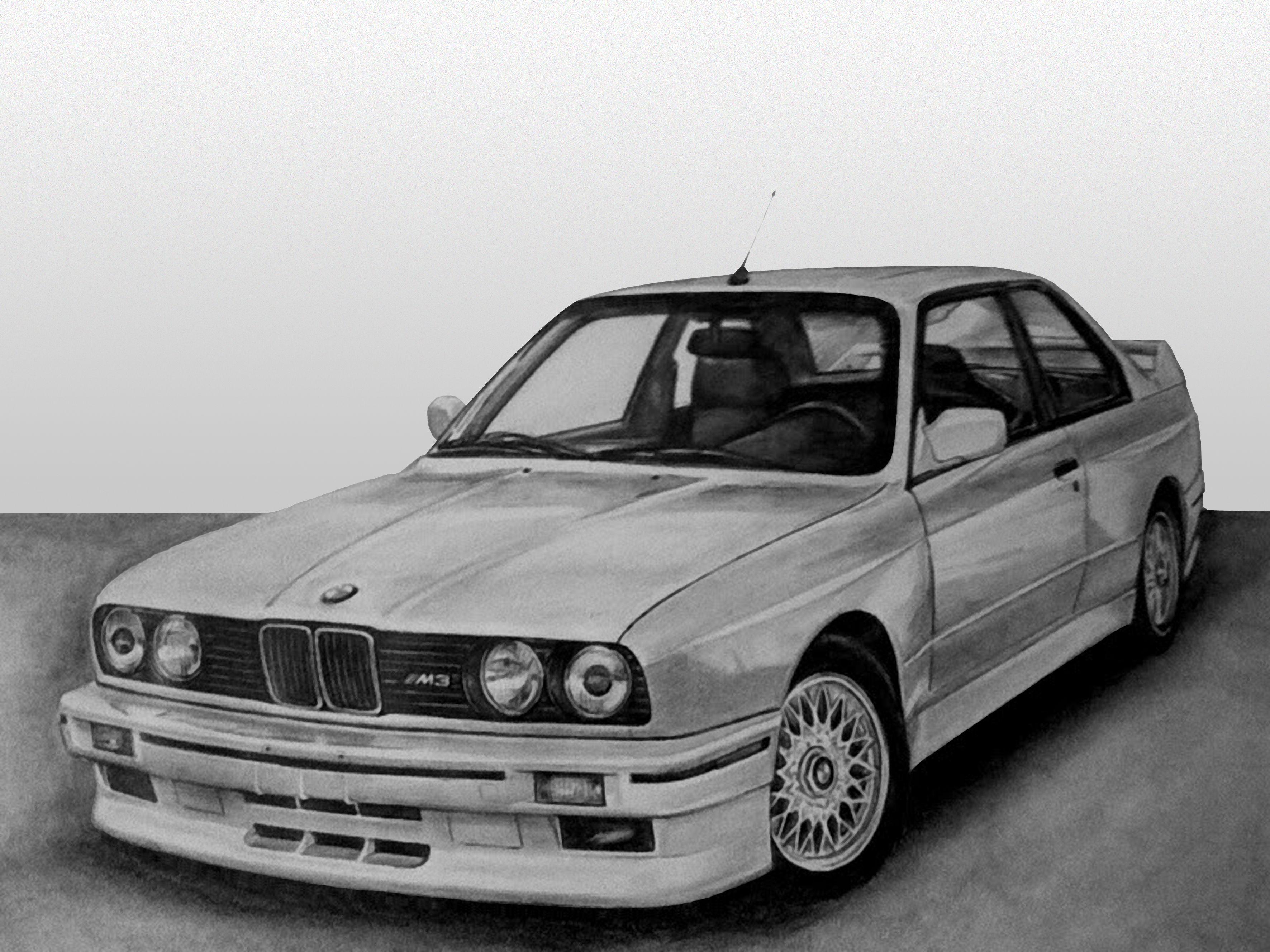 E30 M3 Drawing Bmw Cars Bmw E30 Bmw Cars