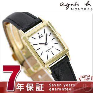 アニエスベー 時計 レディース FCSK937 agnes b. マルチェロ レクタングル ミニ ホワイト×ブラック