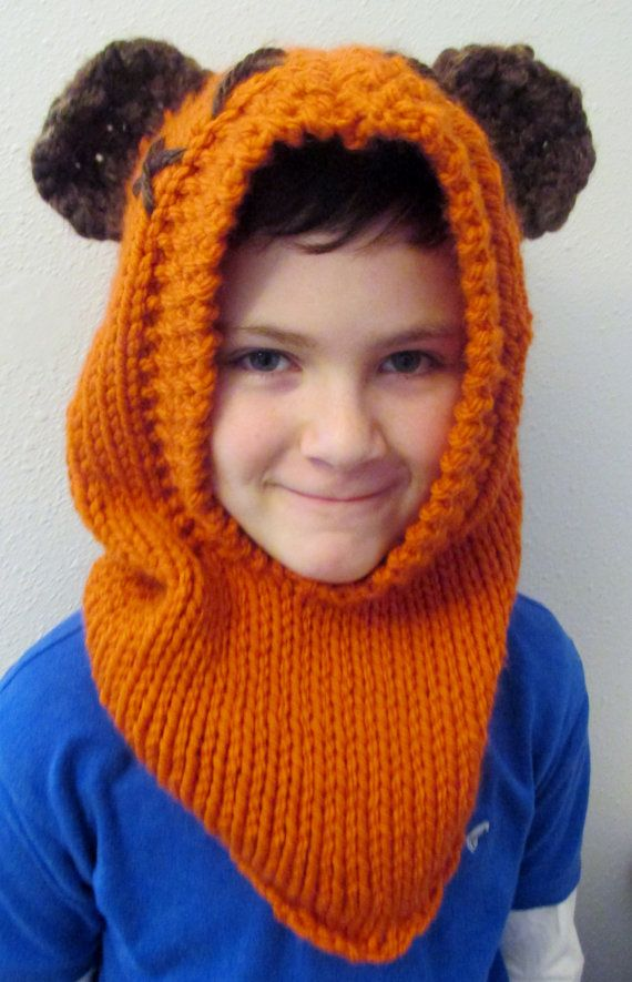 PATTERN ONLY: Furry Forest Friend Hood, Star Wars Ewok Inspired Cowl ...