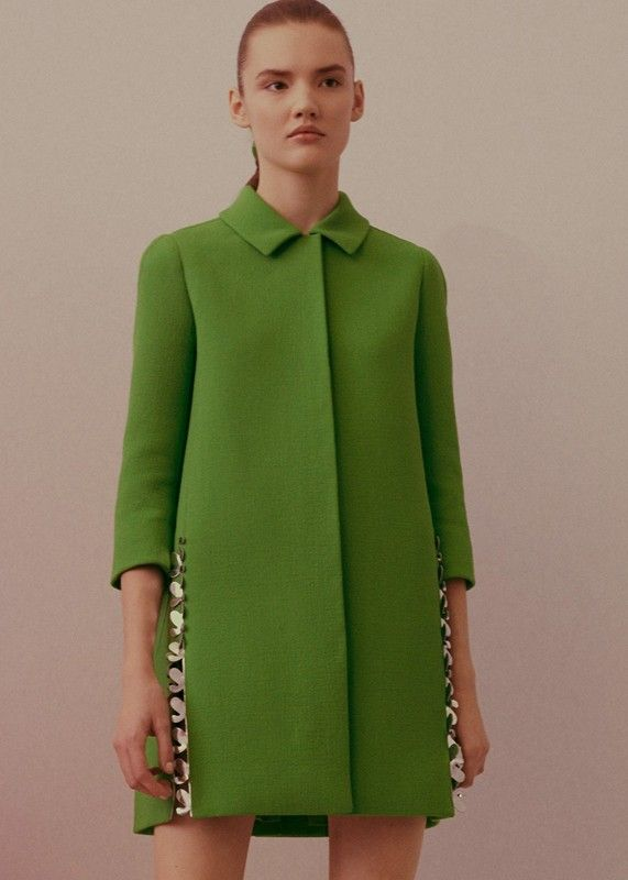 Pea Green Metallic Collar. Christian Dior Haute Couture SS15 by Raf Simons.
