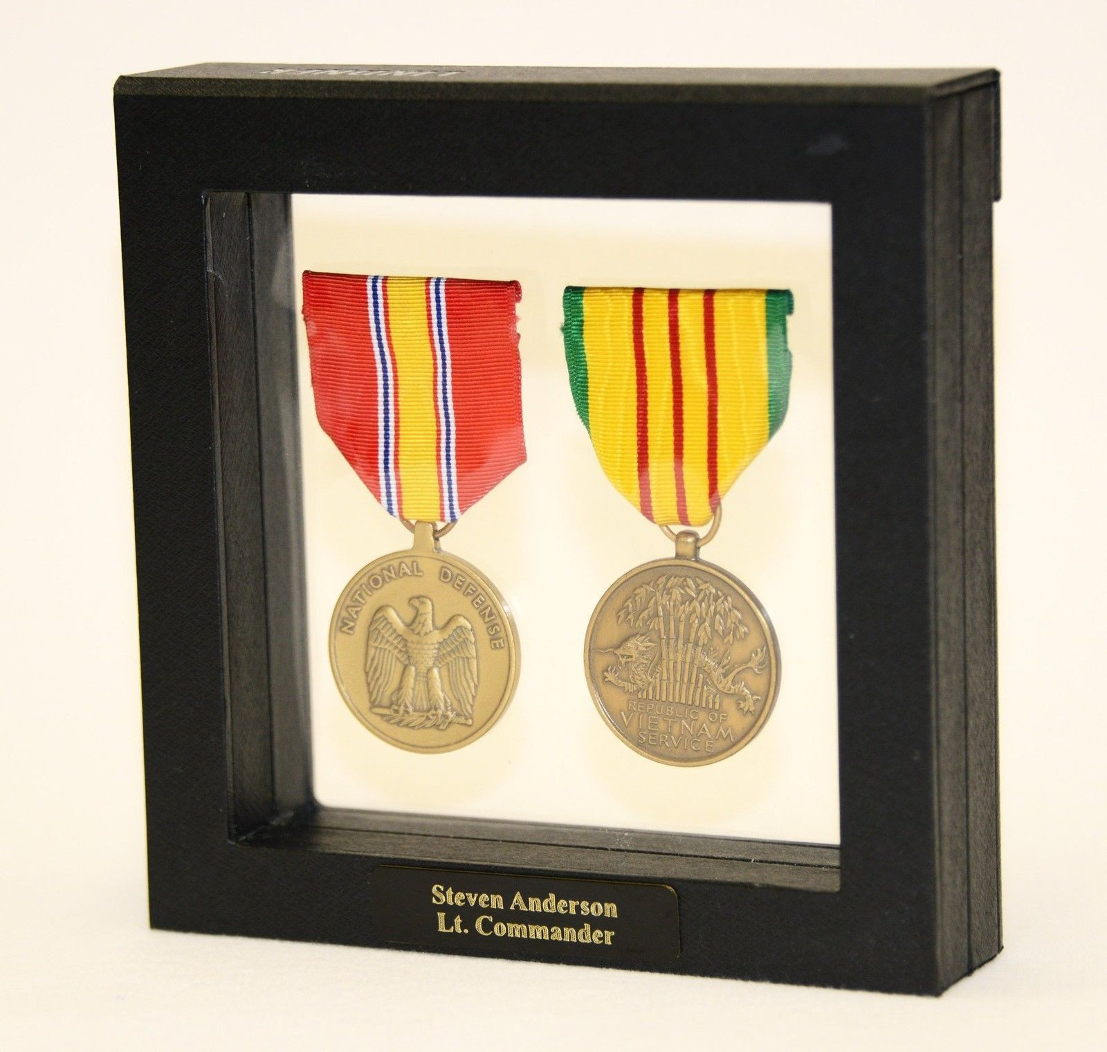 1-2 Military Medals Pins Patches Badge Insignia Display Case Box ...