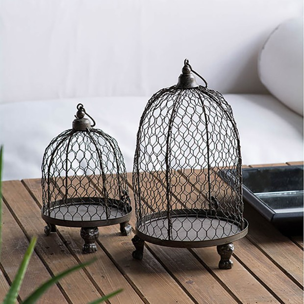 Chicken Wire Birdcage Cloche Set Of 2 In 2020 Chicken