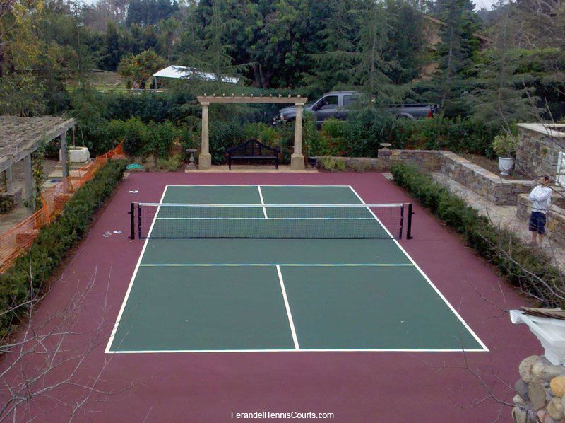 Nice Private Residential Pickle Ball Court Tennis Court Backyard Tennis Court Tennis Court Design