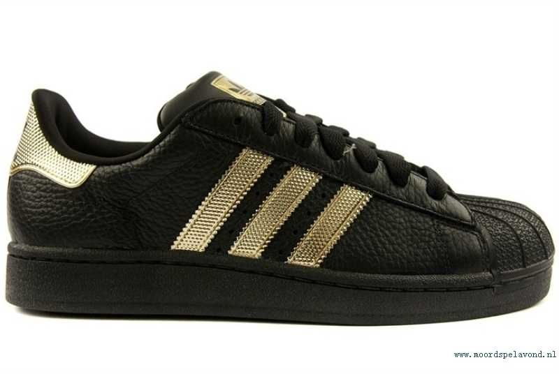 c0f390c32b6 Aankoop JF32K Adidas Zwart/Goud Originals Superstar II Bling ...