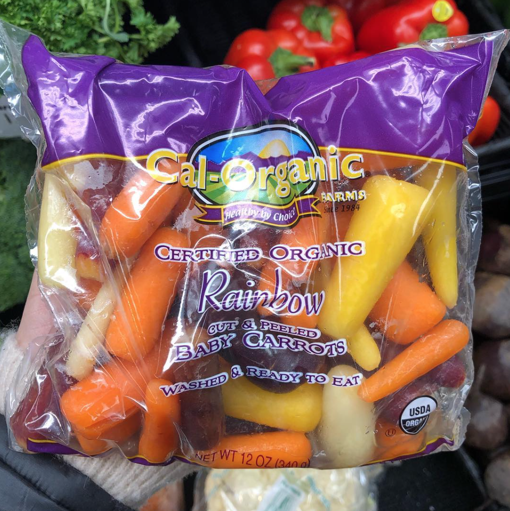 Washed Bagged And Ready To Eat Our Calorganicfarms Rainbow Baby Carrots Are A Super Healthy Snack Tha Super Healthy Snacks Eat The Rainbow Natural Food