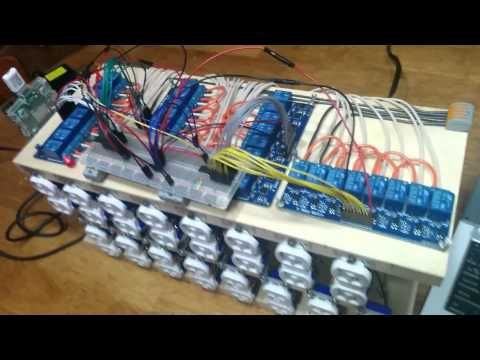 Raspberry Pi: Automated lighting control using 8 channel