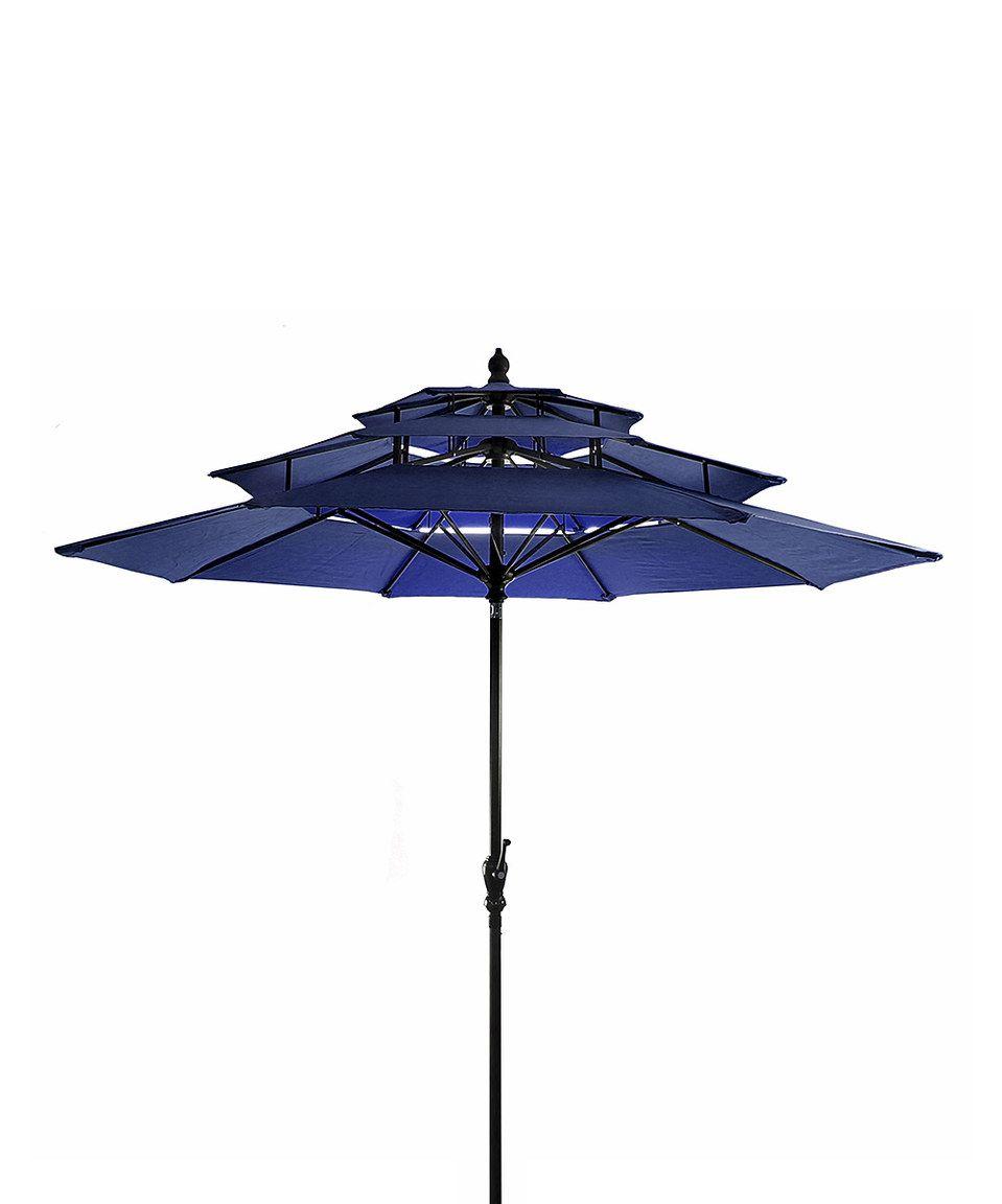 Navy Three-Tier Umbrella by Jordan Manufacturing #zulily #zulilyfinds