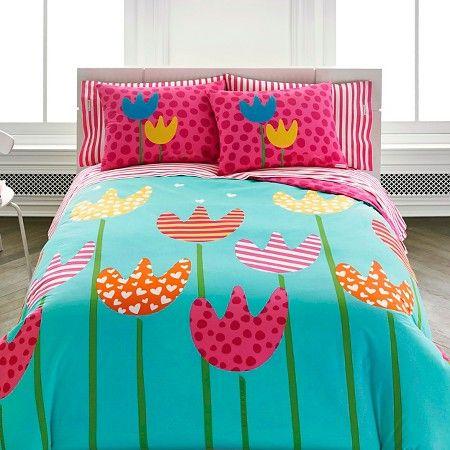 Cutie Tulips Mini Comforter Set  Target Girl\u0027s Bedding