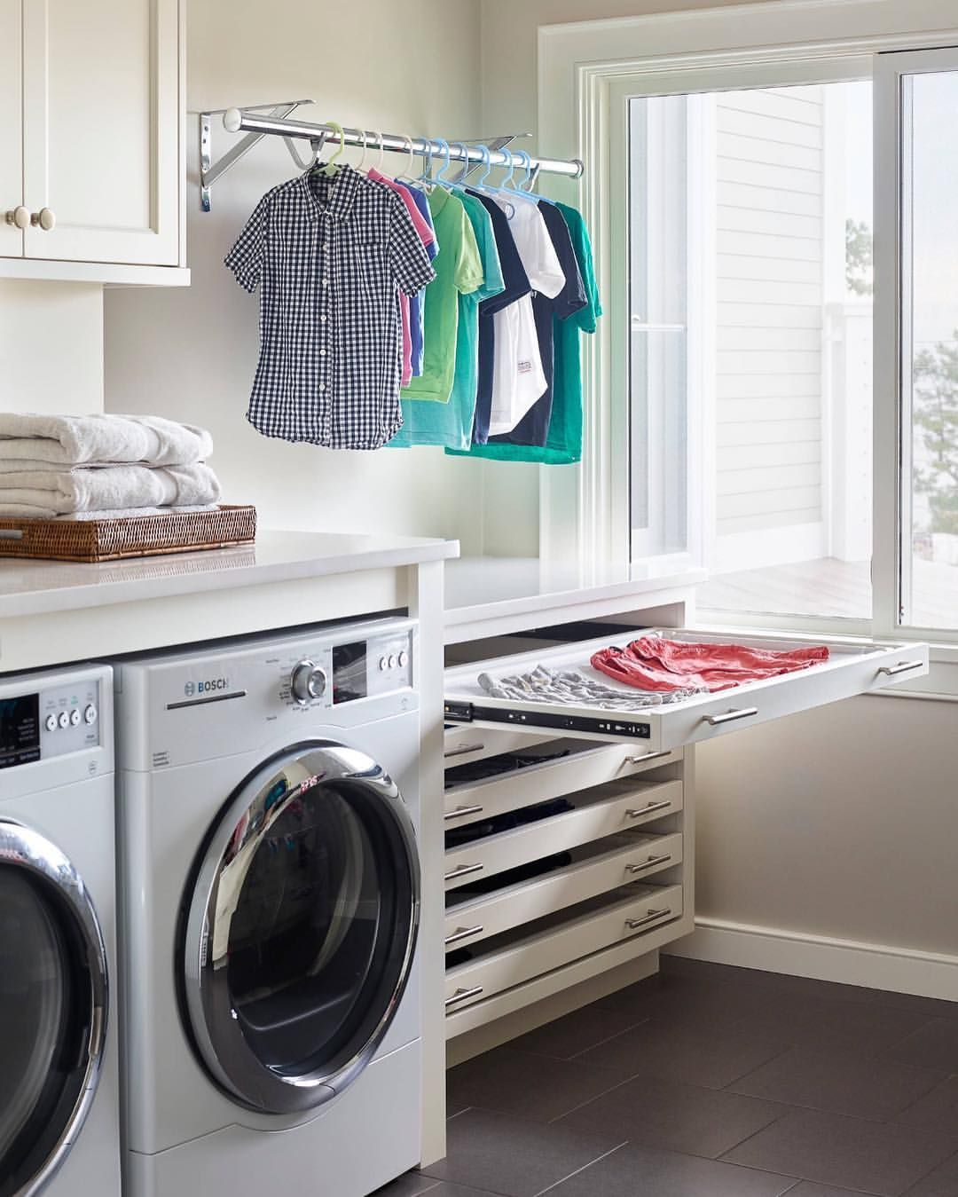 If You Air Dry A Lot Of Clothing This Laundry Set Up Would Be A