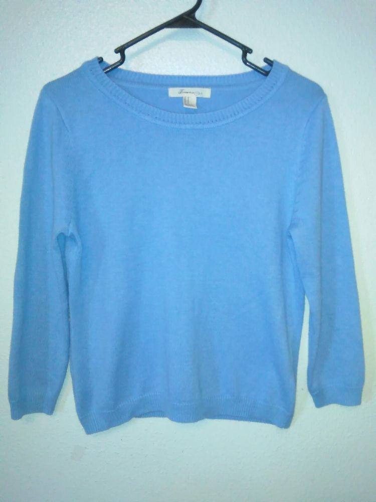 282224cf7 Forever 21 Womens Junior Size M Baby Blue Sweater