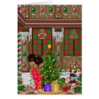 African American Christmas Card - christmas cards merry xmas family