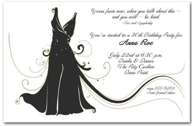 Little black dress pinterest shower inspiration adult birthday invitations little black dress invitation stopboris Images
