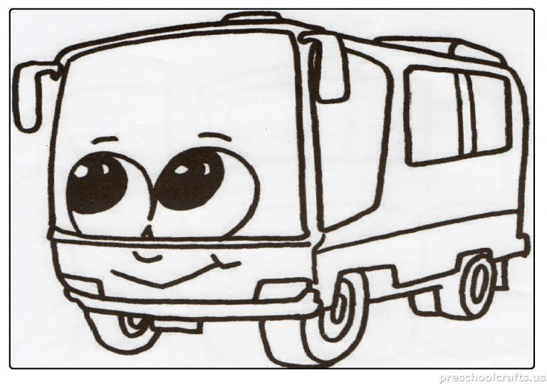 Bus Coloring Page Preschool And Kindergarten Coloring Pages