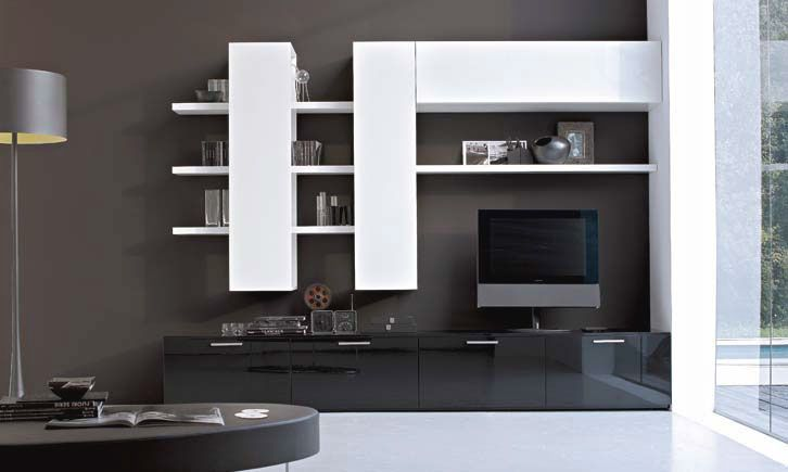 Awe Inspiring Wall Mount Tv Stand From Germany Modern Living Room Cabinets Furniture Black And White With Functional