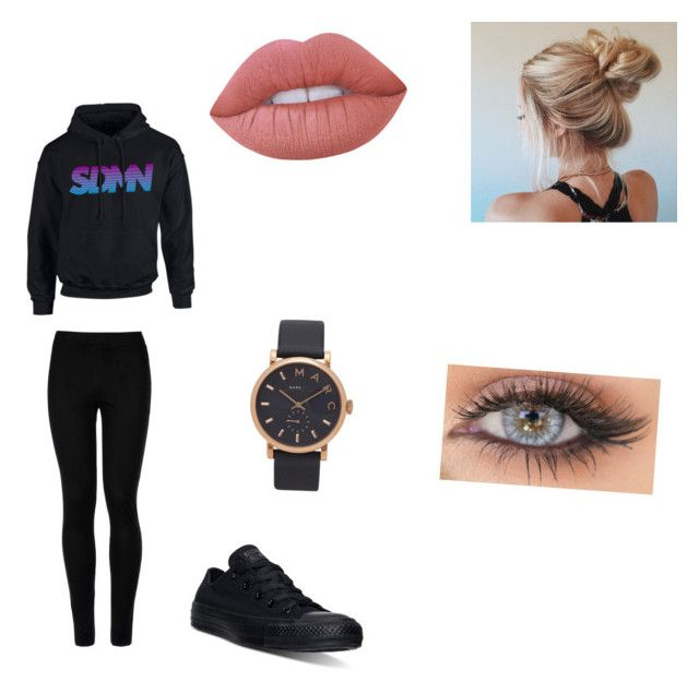 """""""Sdmn"""" by miarivera145 ❤ liked on Polyvore featuring Wolford, Converse, Marc Jacobs and Lime Crime"""