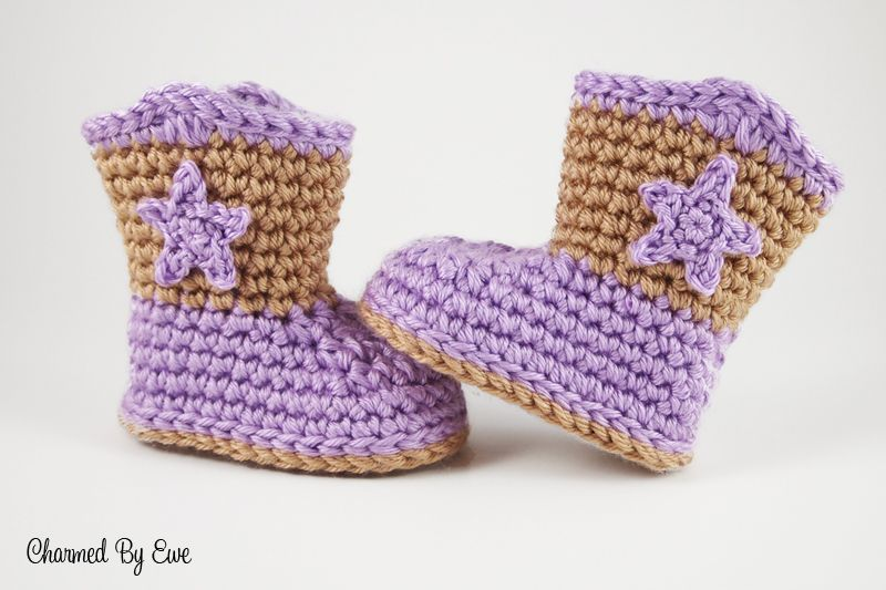 Sweet Lil Baby Cowboy Boots Free Crochet Pattern Crazy Cool