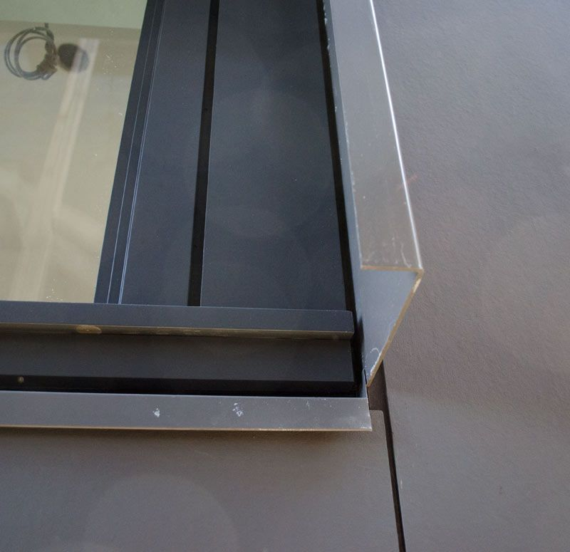 Flashing over hardie panel at window sill closeup detail detail flashing over hardie panel at window sill closeup detail altavistaventures Choice Image