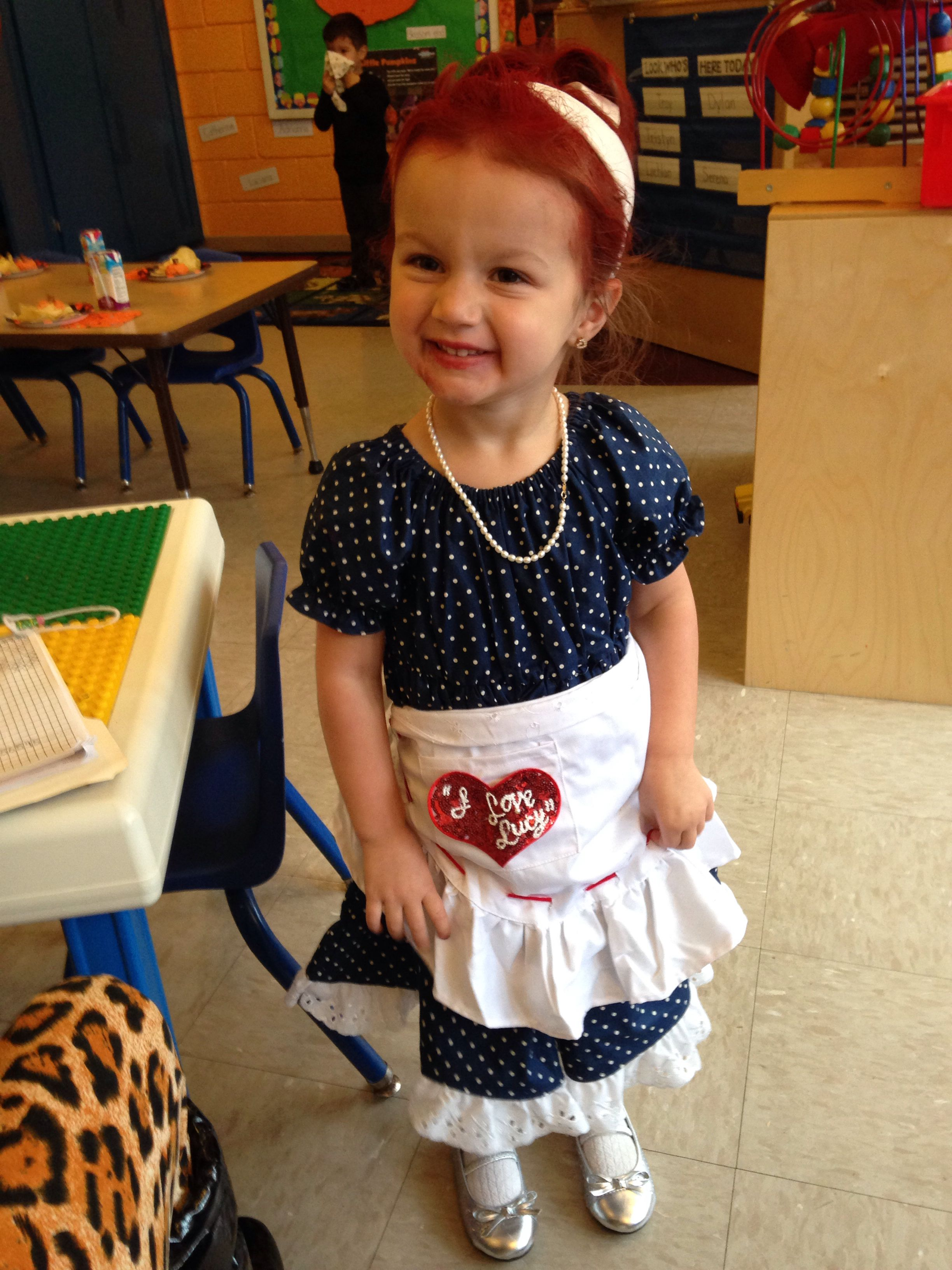 I love Lucy toddler costumes I made myself. The dress was ordered offline. The  sc 1 st  Pinterest & I love Lucy toddler costumes I made myself. The dress was ordered ...