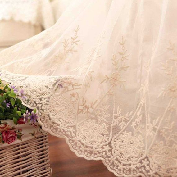 Items Similar To Ivory Lace Love Ruffle Queen 60 W X 80 L 17 Drop Bed Skirt Dust Continuous Corners Ready Ship Final On Etsy