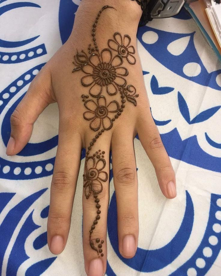 Starter Tattoo Beginnertattooidea Pretty Henna Designs Henna Designs Easy Henna Tattoo Designs Simple