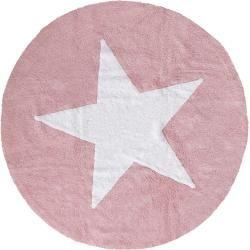 Photo of benuta Kids Waschbarer Kinderteppich Bambini Star Rosa ø 150 cm rund – Waschbarer Teppich für Kinder