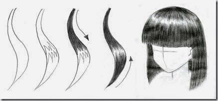 how to draw hair step by step for beginners