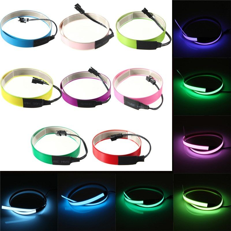 Colorful Electroluminescent Tape EL Wire 8 Colors Inverter DC 12V ...
