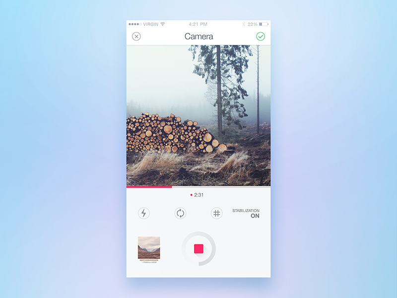 Camera Screen Camera User Interface Design Interface Design