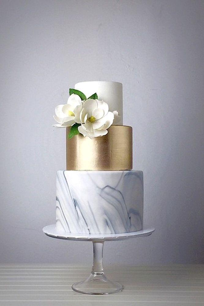 27 Trendy Marble Wedding Cakes