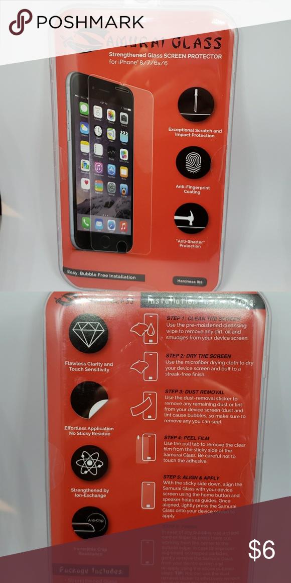 new concept d3597 06bfa 5/$25 NWT Samurai Screen Protector iPhone 8/7/6/6s Brand new in box ...