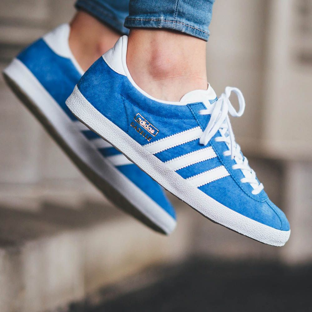 ADIDAS Gazelle OG in light blue and #gold #suede #sneakers