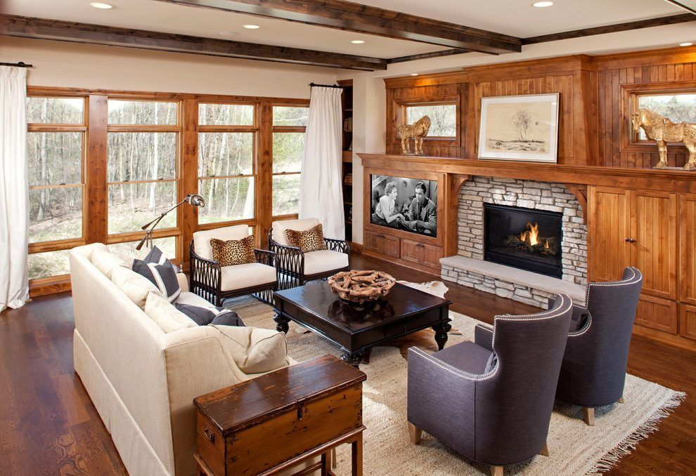 Fireplace Next To Tv Living Room Traditional With Big And Traditional Family Rooms Family Room Furniture Layout