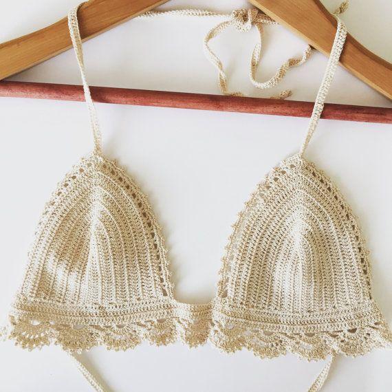 Encaje bralette pdf, patrón de sujetador de encaje, patrón de bikini ...