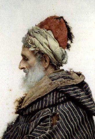Portraits of Moroccans/North Africans by Spanish artist José Tapiro y Baro (1830-1913)