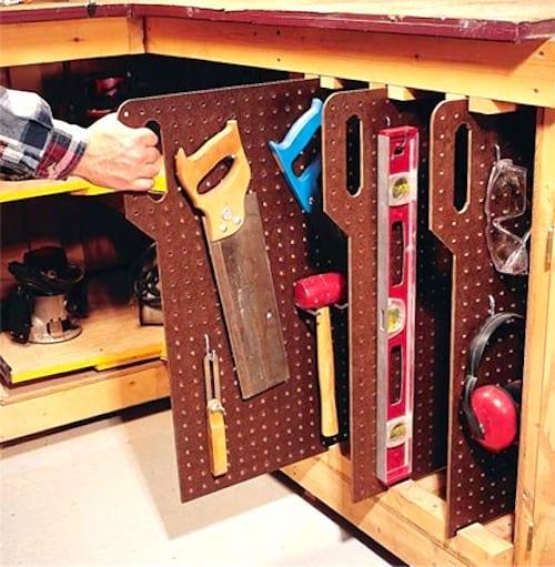 28 Super Idees De Rangement Pour Le Garage Ne Ratez Pas La N 25 Outils De Garage Organisation D Ateliers Rangement Outils