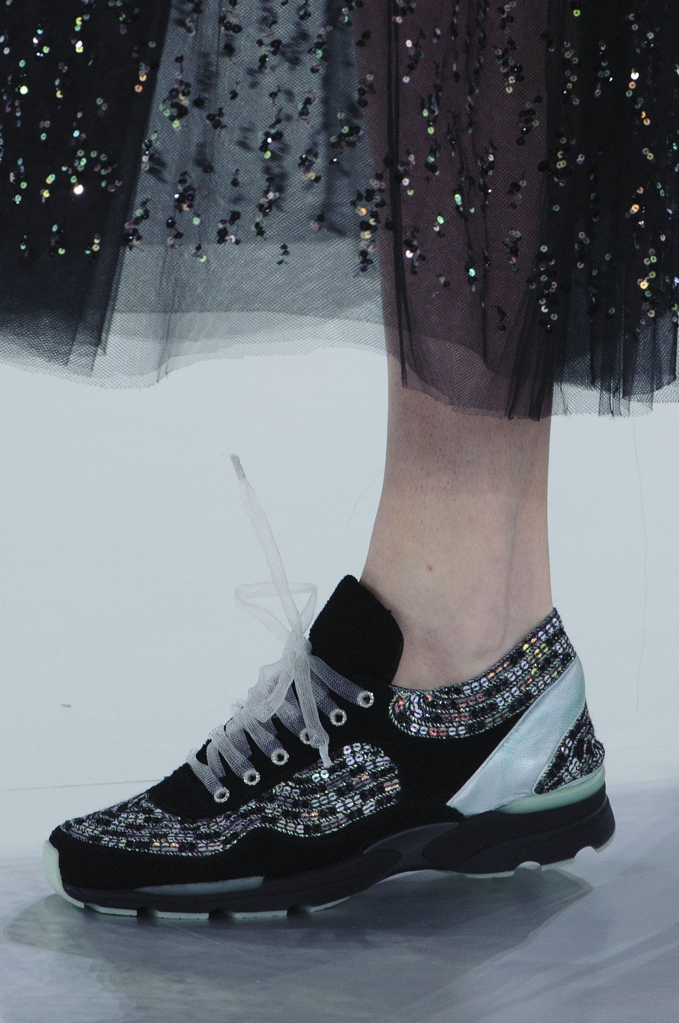 Chanel Haute Couture Spring 2014 - Kicked up sneakers are a huge trend this year!