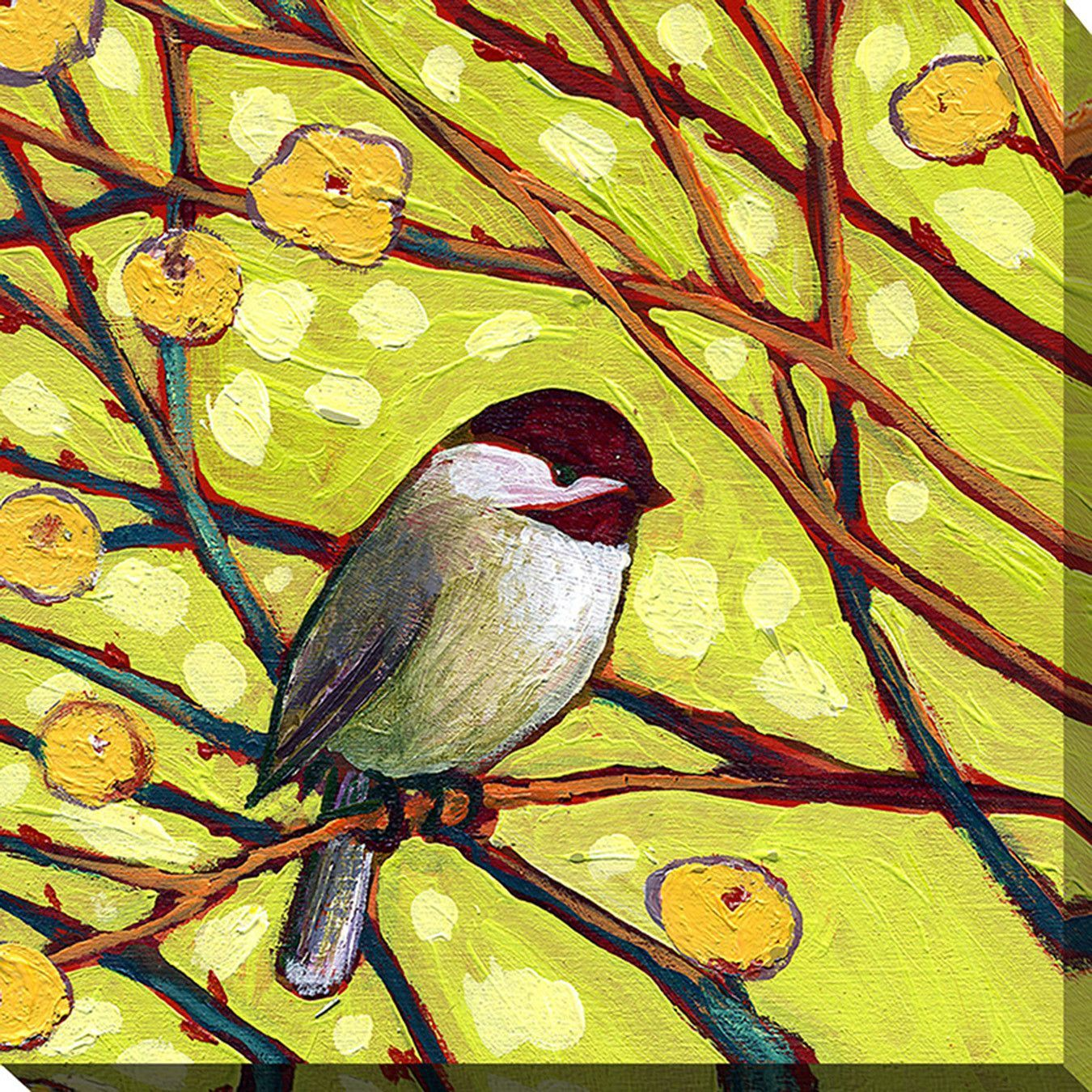 Bird V by Jennifer Lommers Painting Print on Wrapped Canvas