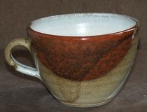 Beautiful pottery Cappuccino Cup hand thrown and crafted by Susan Boland in County Kilkenny.