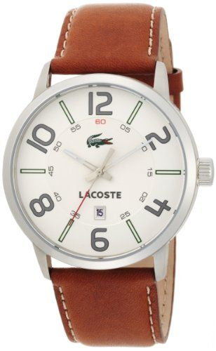 Awesome Lacoste Men's 2010498 Barcelona Brown/White Watch – Venom
