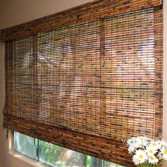 Custom Home Collection Budget Woven Wood Shade Homedepot Com